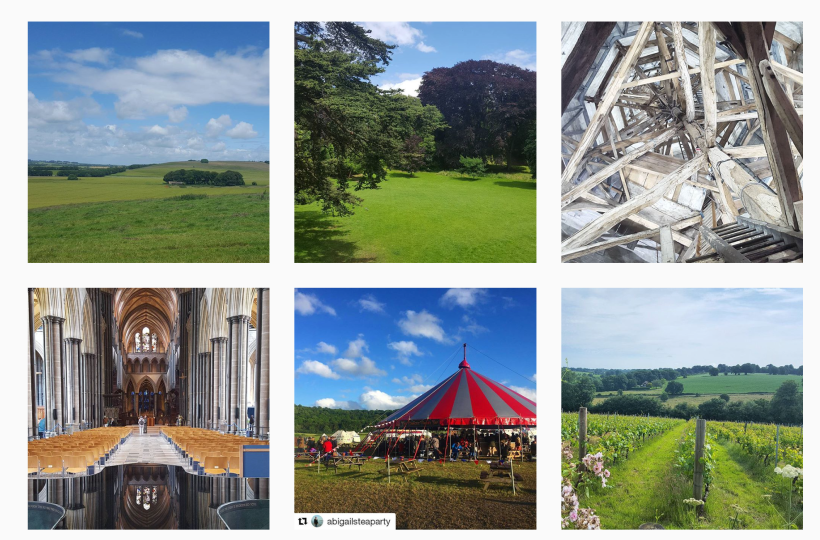Pictures from Visit Wiltshire's Instagram account