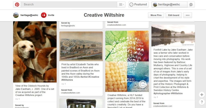 Pinterest board from Creative Wiltshire account